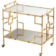 Marlene Bar Cart ($968) ❤ liked on Polyvore featuring home, kitchen & dining and bar tools