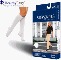 146C Sigvaris Casual Cotton Support Socks for Women 15-20mmHg Size B Khaki by Ganzoni Sigvaris. $27.96. Sigvaris 146 Casual Cotton Sock for Women is made with SupimaTM cotton for extraordinary softness and extra comfort for an informal everyday sock in a modern design. Increased comfort is created with a non-constricting top band and toe zone. Knee High. Closed Toe. Colors: White, Navy, Brown, Khaki, Black.