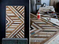 superficies/madera/mosaico