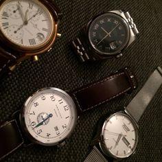 Entre amis ! Rolex, Baume&Mercier, Hamilton et Tissot