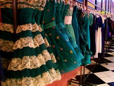 If there is a heaven, I hope it looks like a Betsey Johnson store! Green Lace Dresses, Pretty Dresses, Beautiful Dresses, Betsey Johnson Dresses, Chanel, Just Girly Things, Girly Stuff, Girl Things, Favim