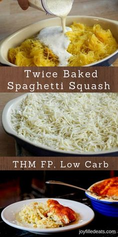 Twice Baked Spaghetti Squash - THM FP, Low Carb, Grain Free - This is the best fuel pull I've ever eaten. I am totally not exaggerating. This is so rich and creamy you would never guess it is low carb and low fat. via @joyfilledeats