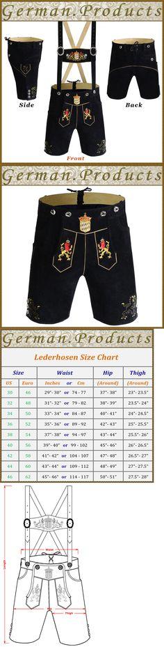 Lederhosen 163144: Authentic Oktoberfest German Bavarian Traditional Short Lerderhosen Outfit -Gp11 -> BUY IT NOW ONLY: $68.5 on eBay!