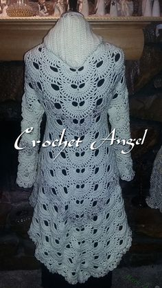 Ravelry: Colonial Cardigan pattern by Paula Marie Crochet Coat, Crochet Cardigan Pattern, Crochet Shirt, Vest Pattern, Crochet Jacket, Crochet Clothes, Clothing Patterns, Coat Patterns, Pdf Patterns
