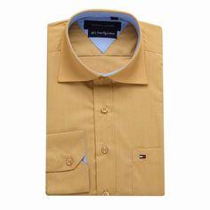 Tommy Hilfiger Long Sleeve Dress Shirts Yellow Free Shipping Long Sleeve Shirt Dress, Dress Shirts, Tommy Hilfiger Shirts, Dresses With Sleeves, Free Shipping, Yellow, Mens Tops, Fashion, Moda