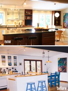 Another view of the kitchen make over!  Now and Before....... Before and after kitchen renovation