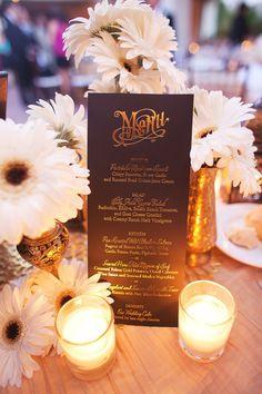 #menu  Photography: Christine Farah Photography - christinefarah.com/ Planning: Felici Events - felicievents.com Floral Design: Louloudi Boutique Floral Design - louloudi.com  Read More: http://www.stylemepretty.com/2012/10/31/santa-barbara-wedding-at-the-bacara-resort-from-christine-farah-photography/