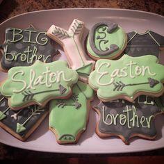 Arrows Baby Boy Decorated Sugar Cookies