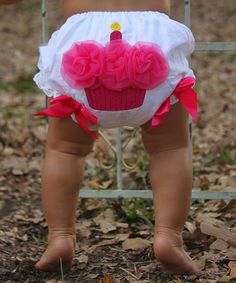 Loving this White & Hot Pink Cupcake Diaper Cover - Infant on #zulily! #zulilyfinds