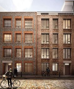 Blossom Street Planning Duggan Morris Architects and AHMM is part of Facade architecture - Brick Architecture, Architecture Visualization, Modern Residential Architecture, Brick Rendering, Duggan Morris, Brick Detail, Townhouse Designs, Commercial Architecture, Building Facade
