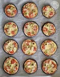 Mój zbiór przepisów kulinarnych-  wyszukane w sieci: Mini pizze z bakłażana
