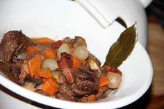 La recette de Thierry: Macreuse de bœuf au vin rouge