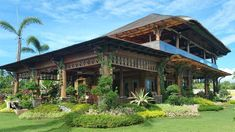 Taking inspiration from old Boholano houses, the owners maximized a lot by building a rustic Filipino retreat that highlights a splendid view and local materials Bamboo House Design, Tropical House Design, Tropical Houses, Tropical Interior, Filipino Architecture, Tropical Architecture, Architecture Symbols, Philippine Architecture, Modern Filipino House