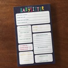 Notepads-Babysitter