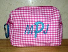 $16.95 Great Tween Gift!!   Personalized Cosmetic bag  www.pollywallydoodle.com 1-888-99-POLLY
