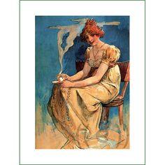 fabric panel - painting by Alphonse Mucha (46)