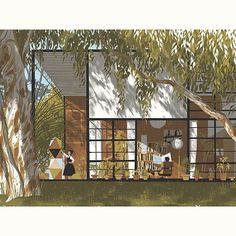 Eames House by Chris Turnham on Curiator, the world's biggest collaborative art collection. Print Artist, Local Artists, Fine Art Paper, Decoration, Giclee Print, Nature, Illustration Art, Collage Illustrations, Art Gallery