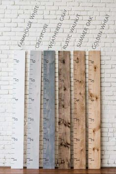 Personalized Wooden Growth Chart Ruler Add Kids Names Custom Wooden Decor, Wooden Diy, Rustic Baby Rooms, Rustic Baby Decor, Rustic Baby Nurseries, Growth Chart Wood, Diy Wooden Projects, Wood Projects For Kids, Diy Wood Crafts