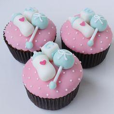 Sin Recetas » Cupcakes Baby Shower Niña
