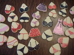 For a bachelorette party...love it! They are all just heart-shaped cookies :) When friends get married