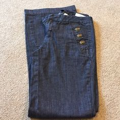 """Tommy Hilfiger Trouser Jeans TH Madison Mid Rise Trouser, 100% cotton, waist 29"""", rise 8 1/2"""", inseam 31 1/2"""" Tommy Hilfiger Jeans Flare & Wide Leg"""