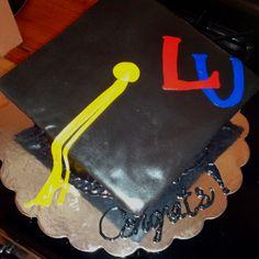 Liberty University graduation cake My Liberty, Liberty University, Graduation Cake, I School, Event Ideas, College Life, Custom Cakes, Fan, Personalized Cakes