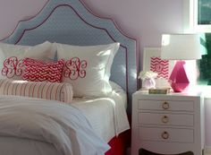 Project Nursery - Preppy Pink and Blue Toddler Girl's Room