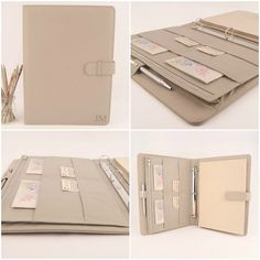 Sophisticated A4 genuine leather Ring Binder PadFolio, designed for a right…