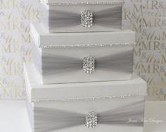 Wedding Card Box Money Box Card Holder Custom by jamiekimdesigns
