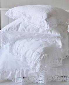 crisp white pillowcases... the Best!
