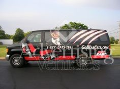 University of Cincinnati Bearcats Van Vehicle Wrap