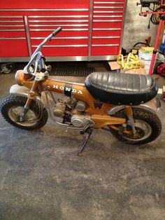 This bike was stolen 3 years ago, and recovered. 1971 Honda Trail 70.