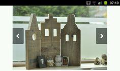DIY hollandse grachtenhuisjes steigerhout drieluik