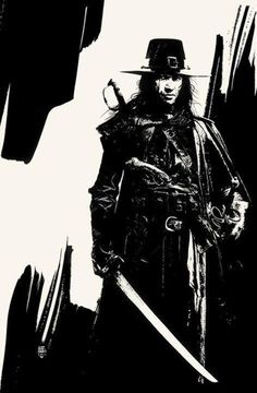 Black and White artwork by Tim Bradstreet.