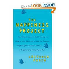 I love this book. I think I'm reading it for the third time and doing my own happiness project. i gretchen rubin! I Love Books, Great Books, Books To Read, My Books, Book Club Books, The Book, Book Nerd, Summer Reading Lists, Happiness Project
