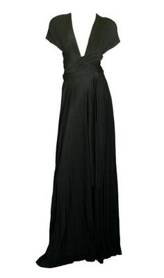 Jersey Gown Black by BUTTER BY NADIA @girlmeetsdress #maternity #girlmeetsdress