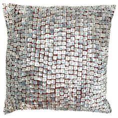 Mother of Pearl Pillow in Silver