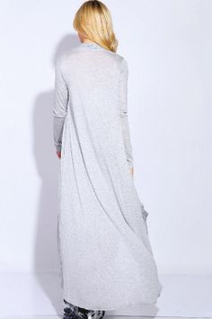 Long Charlie Cardigan in Heather Gray