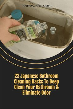 Want to know how to deep clean your bathroom and make it smell good 24/7 without breaking a sweat? Here are 23 of the best bathroom cleaning hacks to do just that! You'll find the before and after photos to prove that these cleaning tips work! From how to clean grout lines, soap scum, hard water stains, stubborn stains and how to make your bathroom smell good. #homewhis #cleaninghacks #bathroomcleaninghacks #vinegarcleaningspray #bakingsoda #toiletcleaner #soapscum #hardwater