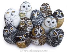 Rock Owl Favors | Unique Handpainted Pieces of Art by Roberto Rizzo