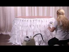 Curly Willow Wedding & Event Chair Sash/Table Skirt Prep - YouTube
