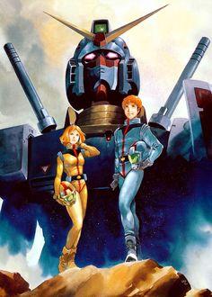 Amuro, Sayla Gundam RX-78 by Yas