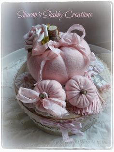 Sharon's Shabby Creations: Shabby chic pumpkins