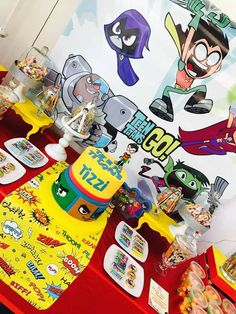 Teens titans go Birthday Party Ideas 2019 Teens titans go Birthday Party Ideas Baby Boy Birthday, 3rd Birthday Parties, Birthday Ideas, Teen Titans Go, Superhero Party, Childrens Party, Party Ideas, Kid Art, Ideas Party