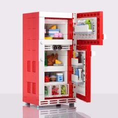 The Retro Refrigerator LEGO Set