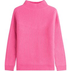 Diane von Furstenberg Pullover ($335) ❤ liked on Polyvore featuring tops, sweaters, red, red pullover sweater, turtle neck top, sweater pullover, diane von furstenberg sweater and pink sweater