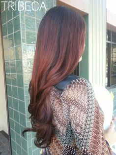Fall Inspired Color Melt Ombre by Mikey #tribecacolorsalon #fallhair#colormelt #ombre