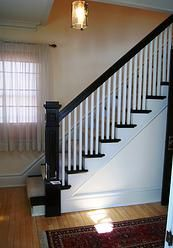 doverhouse. front hallway / stairway.