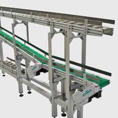 Montech has designed and built a buffer system that manages the queue of reusable totes in a production line. The system presents full totes for processing via belt-driven conveyors and accumulates empty totes using a Conveyor System, Conveyor Belt, Puffer, Montage, Building, German, English, Design, Simple Machines