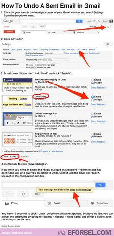 How To Undo A Sent Email In Gmail... LIFESAVER OMG.